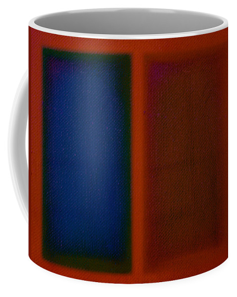 Rothko Coffee Mug featuring the painting Blue On Orange by Charles Stuart