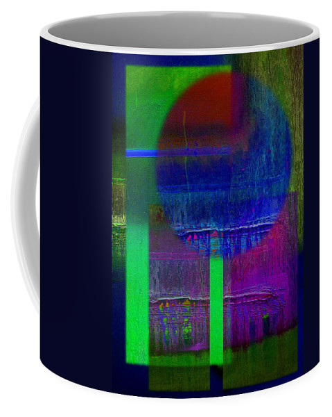Landscape Coffee Mug featuring the painting Blue Planet by Charles Stuart