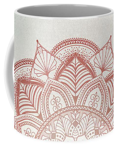 Mandala Coffee Mug featuring the digital art Blue Red Mandala by Aga Szafranska