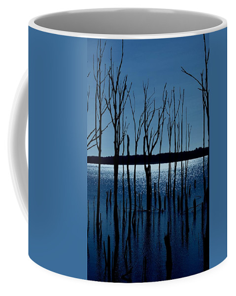 Nature Landscapes Coffee Mug featuring the photograph Blue Reservoir - Manasquan Reservoir by Angie Tirado