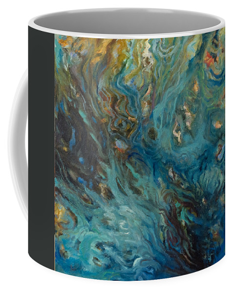 Marine Coffee Mug featuring the painting Blue by Rick Nederlof