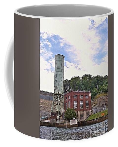 Blue Ridge Dam Coffee Mug featuring the photograph Blue Ridge Dam 4 by Theresa Asher