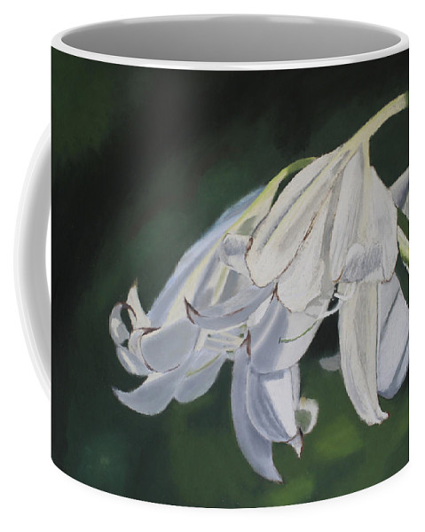 Flowers Coffee Mug featuring the painting Blue Ridge Lilly by D Turner