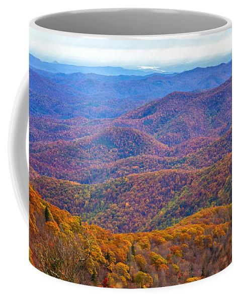 Blue Ridge Mountains Coffee Mug featuring the photograph Blue Ridge Mountains 4 by Gestalt Imagery