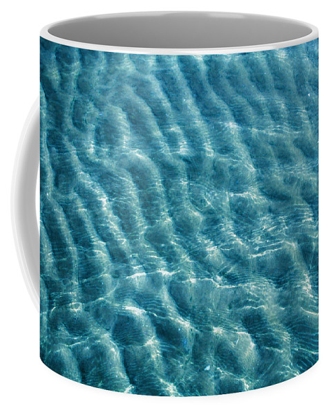 Nature Coffee Mug featuring the photograph Blue Ripples by Linda Sannuti