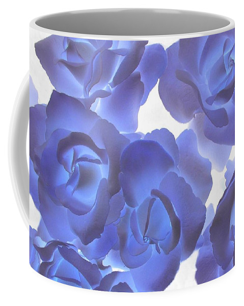 Blue Coffee Mug featuring the photograph Blue Roses by Tom Reynen