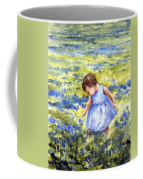 Blue Coffee Mug featuring the painting Blue by Sam Sidders
