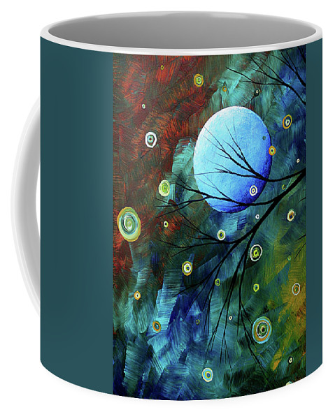 Art Coffee Mug featuring the painting Blue Sapphire 1 By Madart by Megan Duncanson