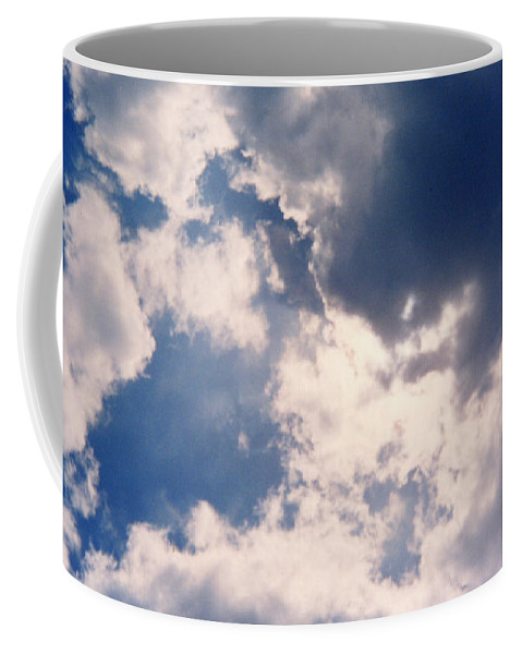 Blue Coffee Mug featuring the photograph Blue Sky And Clouds by Cindy New