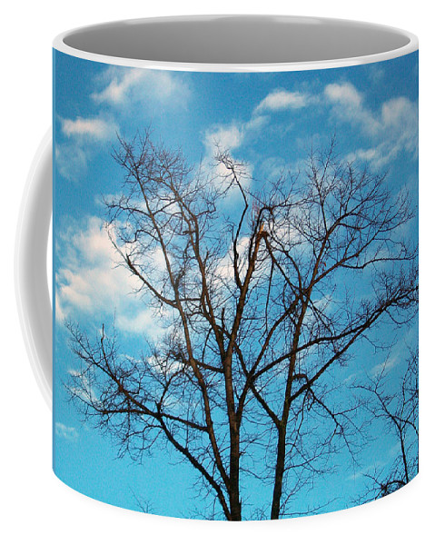 Tree Coffee Mug featuring the photograph Blue Sky by Munir Alawi