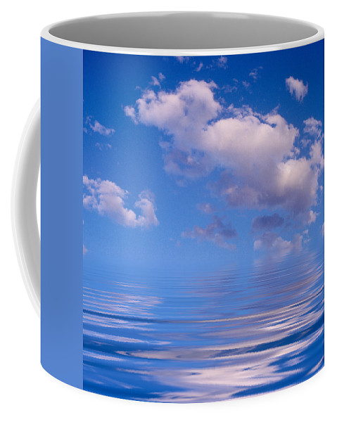 Original Art Coffee Mug featuring the photograph Blue Sky Reflections by Jerry McElroy