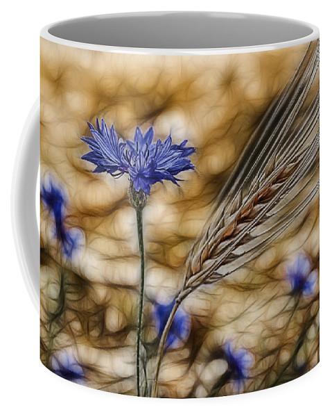 Cornfield Coffee Mug featuring the photograph Blue Stars by Joachim G Pinkawa