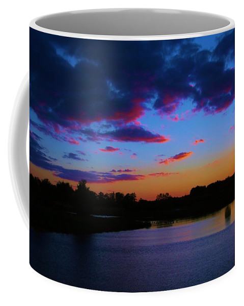 Sunset Coffee Mug featuring the photograph Blue Sunset by Eric Noa