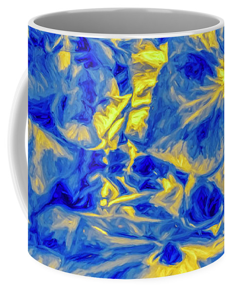 Blue Coffee Mug featuring the photograph Blue Tango Floral by Jean OKeeffe Macro Abundance Art