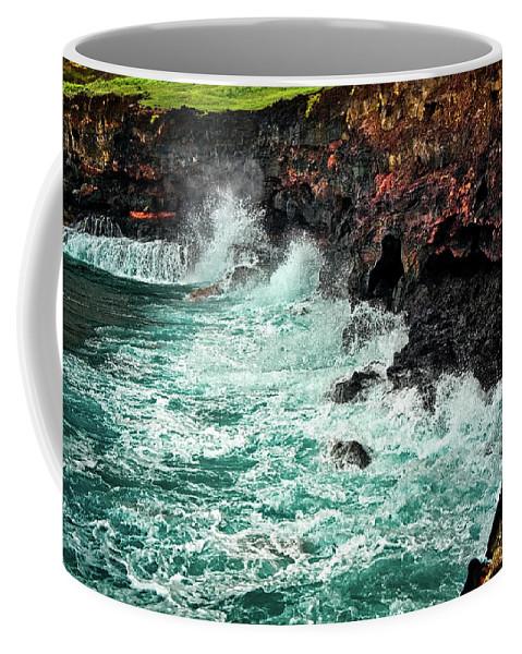Hawaii Coffee Mug featuring the photograph Blue Turmoil by Christopher Holmes