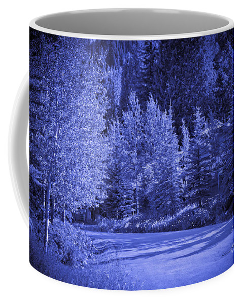 Trees Coffee Mug featuring the photograph Blue Vail by Madeline Ellis