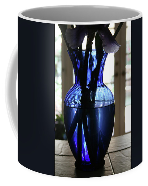 Vase Coffee Mug featuring the photograph Blue Vase by Marna Edwards Flavell