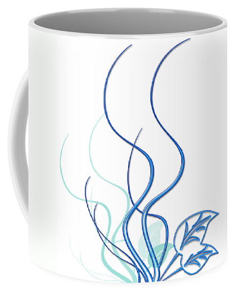 Flower Coffee Mug featuring the digital art Blue Vine by Svetlana Sewell