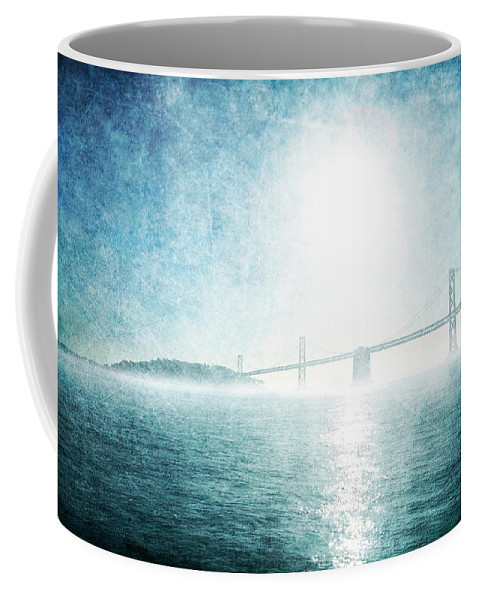 Coffee Mug featuring the photograph Blue Water Bridge by Guy Crittenden