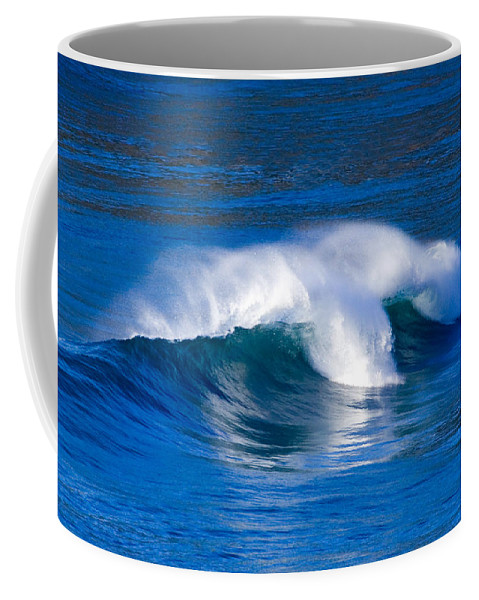 Wave Coffee Mug featuring the photograph Blue Wave by Randall Ingalls