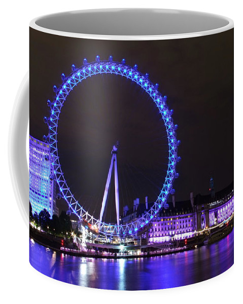 Wheel Coffee Mug featuring the photograph Blue Wheel by Andrew Ford