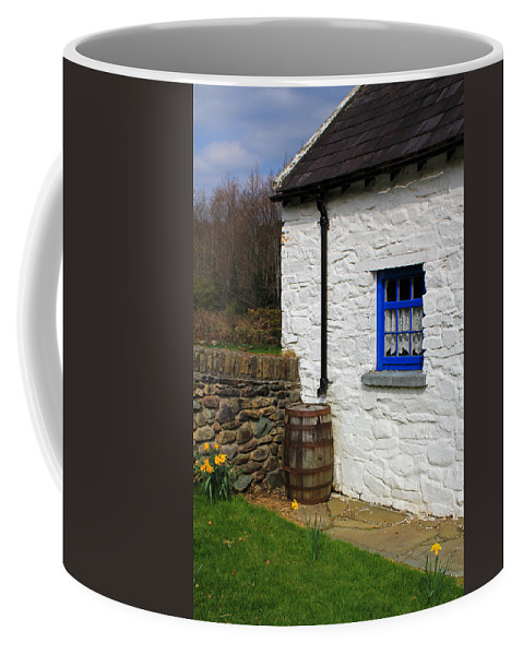 Houses Coffee Mug featuring the photograph Blue Window by Jennifer Robin