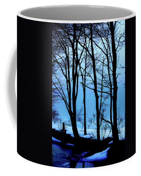 Woods Coffee Mug featuring the photograph Blue Woods by Karol Livote