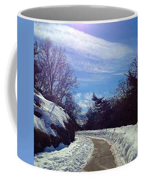 Outdoors Coffee Mug featuring the photograph Blue World by Ydania Ogando