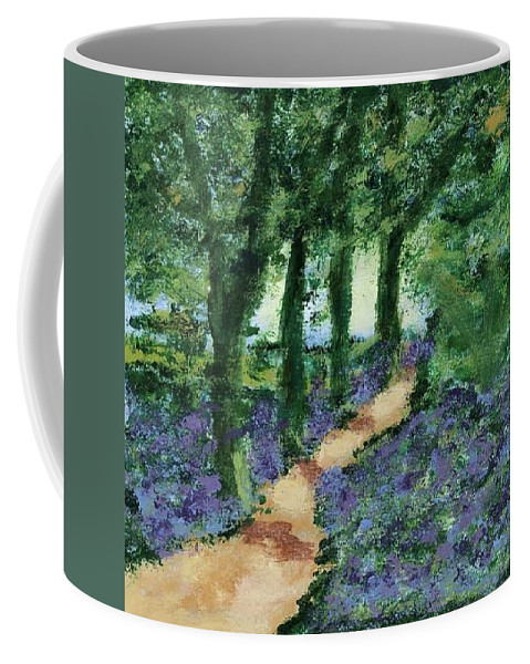 Landscape Coffee Mug featuring the painting Bluebells by Steve Walmsley