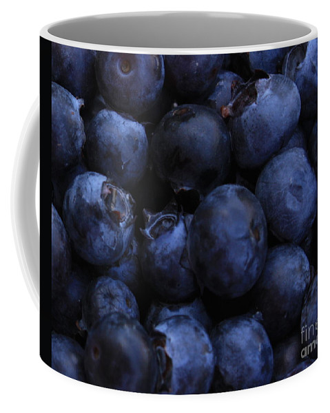 Blueberries Coffee Mug featuring the photograph Blueberries Close-up - Horizontal by Carol Groenen