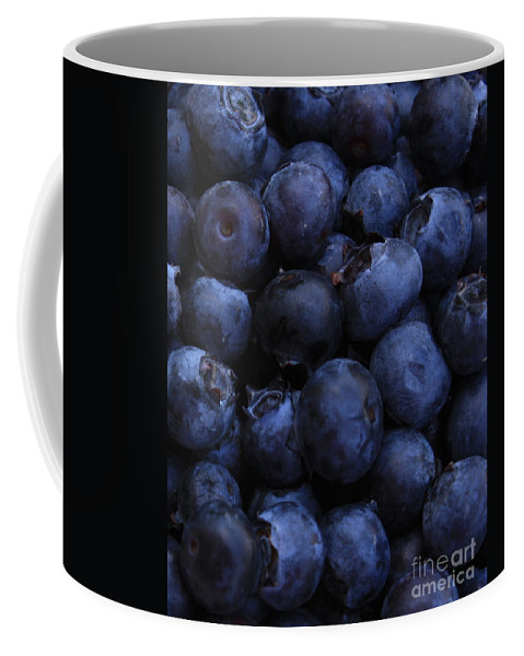 Blueberries Coffee Mug featuring the photograph Blueberries Close-up - Vertical by Carol Groenen
