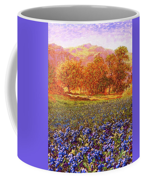 Tree Coffee Mug featuring the painting Blueberry Fields by Jane Small