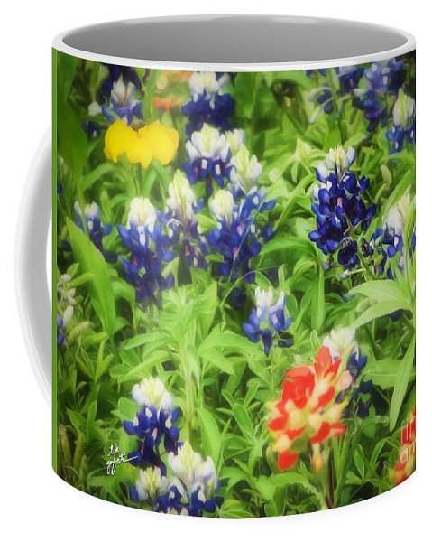 Bluebonnets Coffee Mug featuring the photograph Bluebonnet Bouquet by TK Goforth