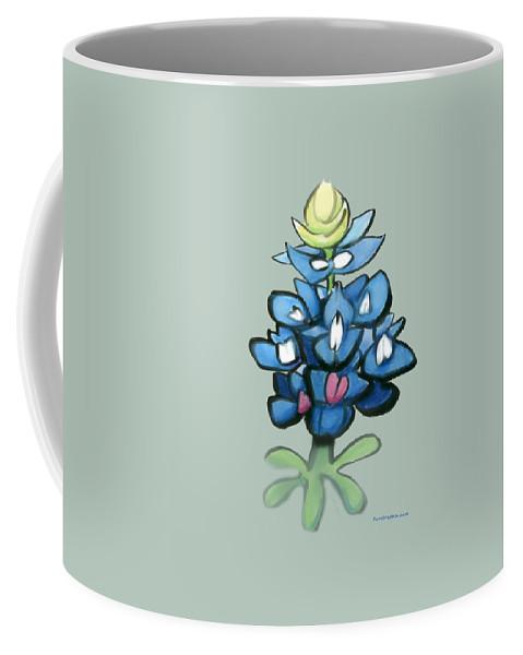 Bluebonnet Coffee Mug featuring the digital art Bluebonnet by Kevin Middleton