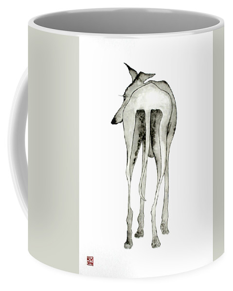 Dogs Coffee Mug featuring the painting Bluedog by Richard Williamson