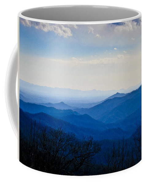 Landscape Coffee Mug featuring the photograph Blueridge by Ches Black