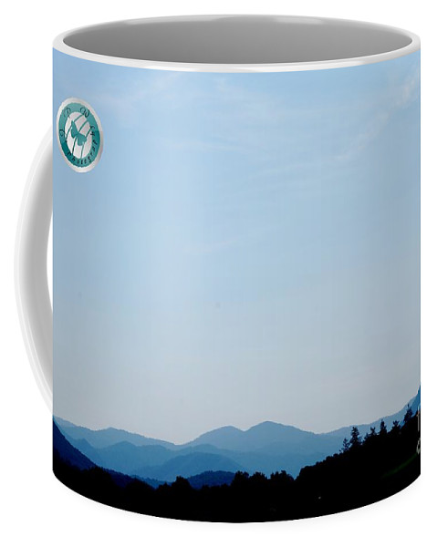 Mountains Coffee Mug featuring the photograph Blueridge Mountains by Jannice Walker