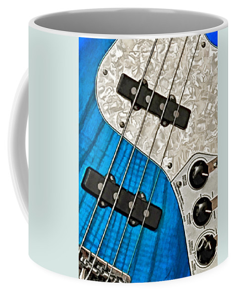 Guitar Coffee Mug featuring the photograph Blues Bass by William Jobes
