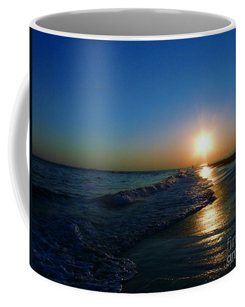 Landscape Coffee Mug featuring the photograph Blues In The Evening by Kendall Eutemey