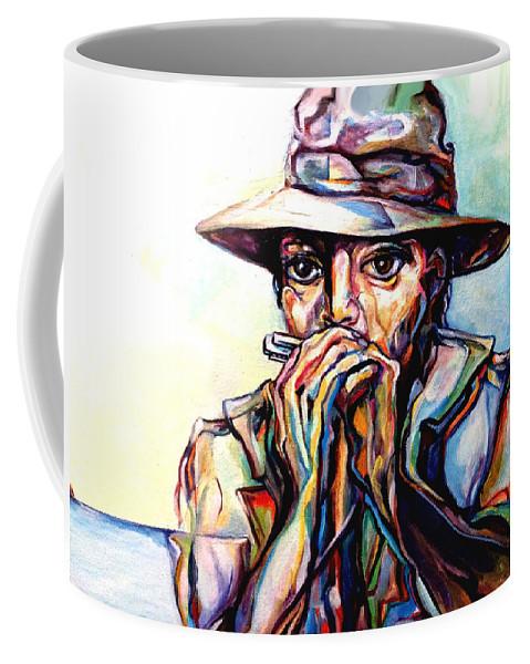 Lloyd Deberry Coffee Mug featuring the painting Blues Traveler by Lloyd DeBerry