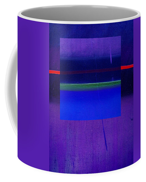 Landscape Coffee Mug featuring the painting Bluescape by Charles Stuart