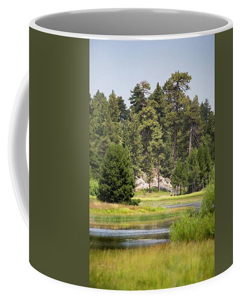 Landscape Coffee Mug featuring the photograph Bluff Lake Ca 13 by Chris Brannen