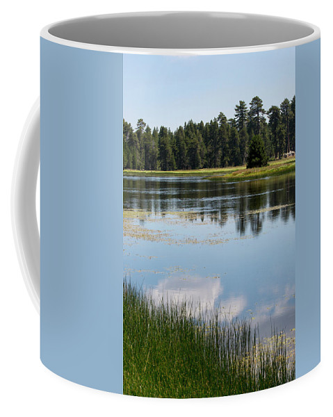 Landscape Coffee Mug featuring the photograph Bluff Lake Ca 4 by Chris Brannen