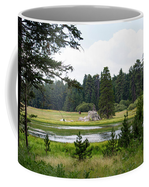 Landscape Coffee Mug featuring the photograph Bluff Lake Ca 9 by Chris Brannen