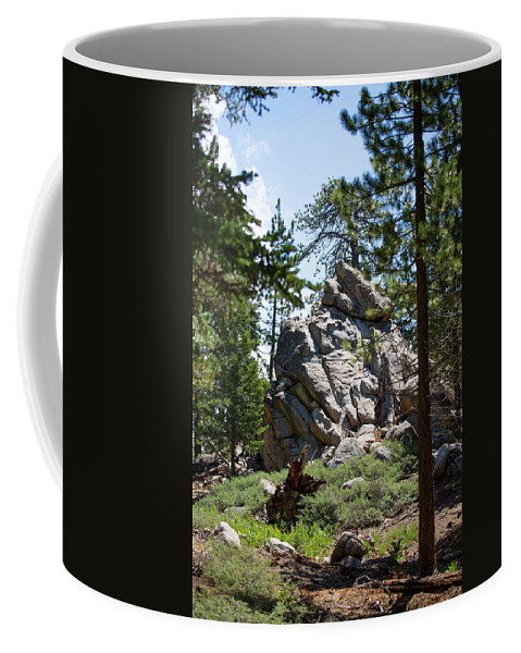 Landscape Coffee Mug featuring the photograph Bluff Lake Ca Boulders 1 by Chris Brannen