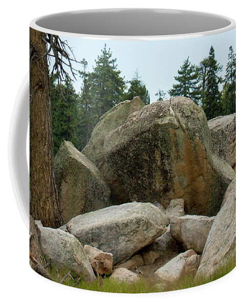 Landscape Coffee Mug featuring the photograph Bluff Lake Ca Boulders 3 by Chris Brannen