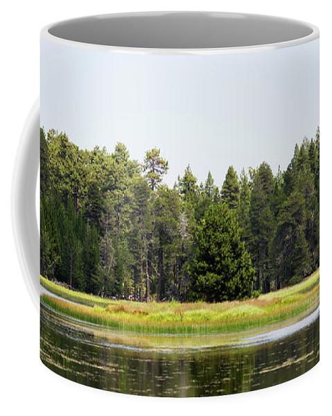 Landscape Coffee Mug featuring the photograph Bluff Lake Ca Island 3 by Chris Brannen