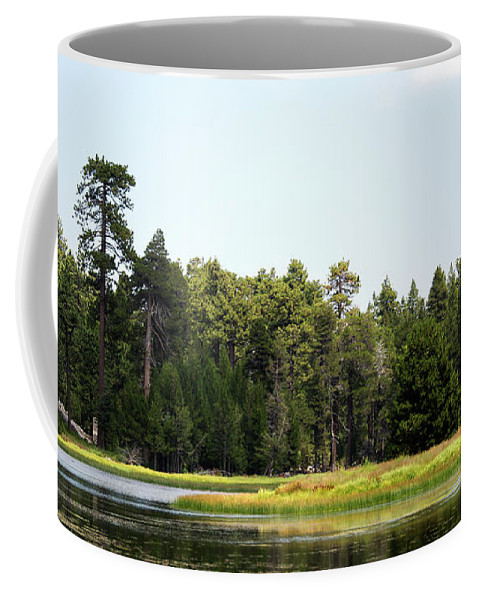 Landscape Coffee Mug featuring the photograph Bluff Lake Ca Island 5 by Chris Brannen