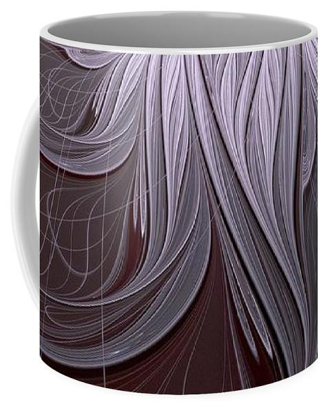 Digital Art Coffee Mug featuring the digital art Blush by Amanda Moore