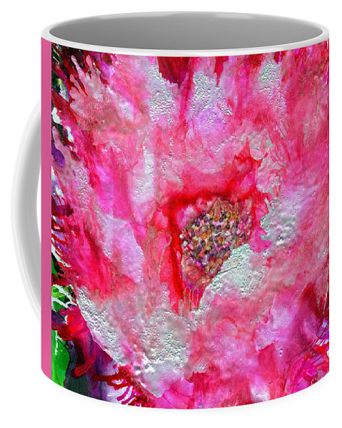 Flower Coffee Mug featuring the painting Blushing by Eunice Warfel